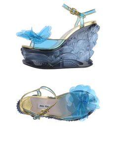 Miu Miu サンダル レディース   YOOXで世界のファッションをオンラインショッピング