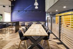 New Purpose has designed the offices of business communications company Zetacom, located in Zoetermeer, Netherlands. Zetacom, a system integrator for the Downlights, The Office, Offices, Lounge, Flooring, Wood, Table, Furniture