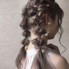 Kawaii Hairstyles, Fancy Hairstyles, Braided Hairstyles, Vintage Hairstyles, Summer Hairstyles, Cut My Hair, New Hair Do, Her Hair, Hair Cuts