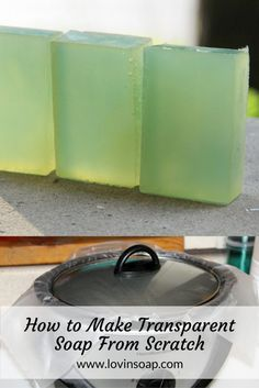 How to Make Clear Transparent Soap From Scratch – Making Transparent Soap Guide. This is a Hot Process Soap! Soap Making Kits, Soap Making Recipes, Soap Making Supplies, Homemade Soap Recipes, Savon Soap, Piel Natural, Soap Base, Bath Soap, Glycerin Soap