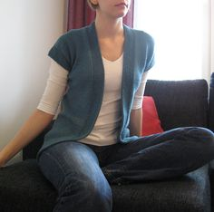 A Simple Knit Cardigan; Making this one for my daughter, love it!
