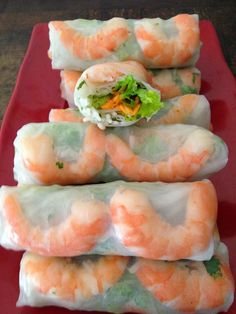 Rouleaux de printemps Crockpot Recipes, Cooking Recipes, Healthy Recipes, Good Food, Yummy Food, Exotic Food, Vegetarian Recipes Dinner, International Recipes, Asian Recipes
