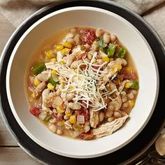 Chicken and Corn Chili #slowcooker #fallcooking #comfortfood