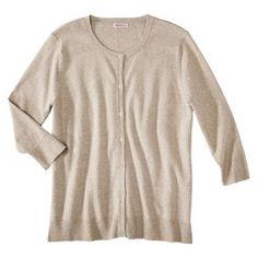 Merona® Women's Plus-Size 3/4-Sleeve Crew-Neck Cardigan Sweater - Assorted Colors