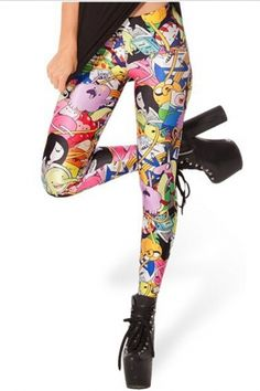 Леггинсы разноцветные рисунок 013 - Супермаркет Выгодных Покупок