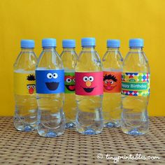 sesame+street+birthday+themes | Sesame Street DIY Water Bottle Labels To ... | Birthday food/ideas