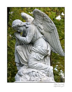 Fine Art print of a praying angel statue by picspicspics on Etsy, $20.00