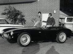 Many celebrities in California were drawn to Carroll Shelby's shop to drive or buy one of Shelby's Cobras.  Steve McQueen was given a car by Shelby to test drive for a few days but McQueen held onto it for almost three months.  Shelby kept asking McQueen to bring it back and finally McQueen did.  He never bought a Cobra.  Henry Ford/Friedman photo.