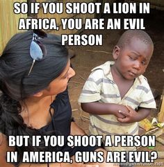 Guns are evil? Address the real reason behind mass shootings = mental illness.
