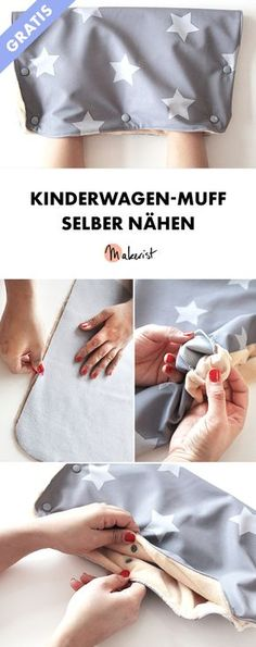 Sewing a pram muff without a sewing pattern - free sewing instructions via Makeri . Sewing a pram muff without a pattern - free sewing instructions via Makerist.de # nähenmitmakerist # Nähanleitung S. Baby Knitting Patterns, Sewing Patterns Free, Free Sewing, Free Pattern, Pattern Sewing, Easy Knitting Projects, Sewing Projects For Beginners, Knitting For Beginners, Tricot Facile