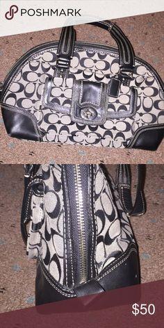 Black coach purse Half oval shape. Very cute and fits a lot !! Coach Bags Crossbody Bags