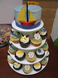 The Cupcake Tower! Fun for the boys birthday party.