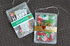 Need a fresh idea for how to treat your Valentine this year? Here's an easy way to say I love you! These pouches are so easy to make, and you can fill them with whatever thin goodies you can find (such as gum, gift cards and cash). Click on the picture to go the post where Jaclyn Miller shows you how she made them with dies and stamps from TechniqueTuesday.com (and other craft supplies).