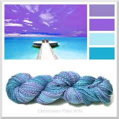 TROPICAL BEACH superwash merino wool sock yarn for knitting or crocheting, limited edition. http://www.expressionfiberarts.com/categories/wool-sock-yarn.html