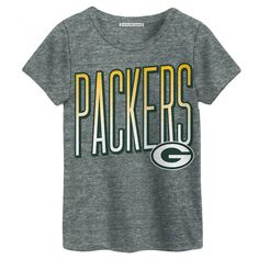 Green Bay Packers Green Bay Packers Women's Touchdown Tri-Blend Top at the Packers Pro Shop