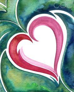 Love is Living - 16in by 20in Print of Original Watercolor Painting.#LoveSFETSY ONE DAY ONLY Flash Sale - February 1  GET 40% OFF    Participating SFEtsy Stores –  8am-11:59pm PST  USE PROMO CODE: LOVESFETSY