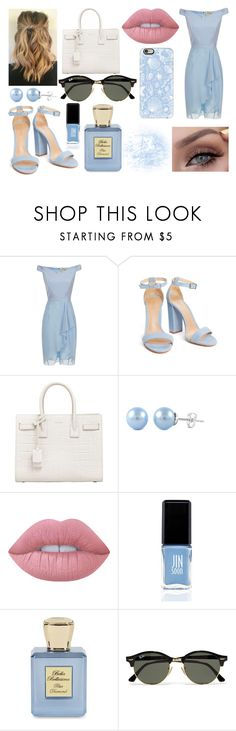 """#342"" by glitterunicorns-are-awesome ❤ liked on Polyvore featuring Yves Saint Laurent, Lime Crime, JINsoon, Bella Bellissima, Ray-Ban and Casetify"