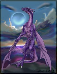 purple dragon photo by Dragon Tales, Dragon 2, Fantasy Dragon, White Dragon, Lightning Dragon, Purple Lightning, Fantasy World, Fantasy Art, Chromatic Dragon