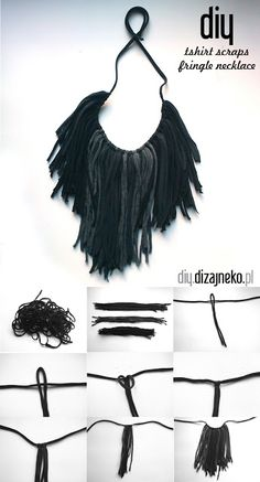 Make this fun fringed tshirt necklace - perfect for festival season!