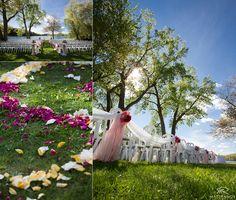 The Crooked Lake House wedding outdoor ceremony © Matt Ramos Photography