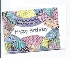 Happy Birthday Card by YourNotableCards on Etsy