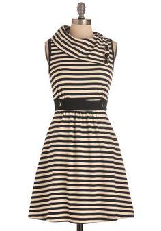 Coach Tour Dress in Stripes   Mod Retro Vintage Dresses   ModCloth.com