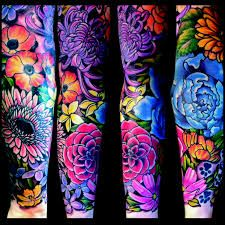 woman flower sleeve tattoo - Google Search