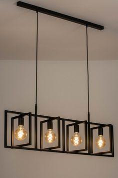 Závěsné černé svítidlo Boston Loft Black X Home Lighting Design, Ceiling Light Design, Glass Ceiling Lights, Ceiling Lamp, Iron Furniture, Steel Furniture, Modern Hanging Lights, Modern Light Fixtures, Wood Lamps