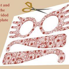 DIY Luna Lovegood Glasses: Print and cut the template provided.