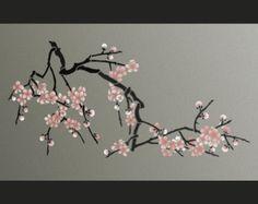 STENCIL  Magnolia Flower Branch  Large Branch di OliveLeafStencils