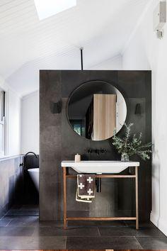 Bathroom from modern Queenslander home in Brisbane. Photography: Maree Homer | Styling: Kate Nixon | Story: Australian House & Garden