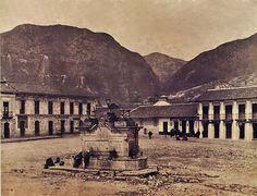 1885, Plaza Antonio Nariño, más tarde, Plaza San Victorino - Bogotá, Colombia Japan Spring, Colombia Travel, Latin America, Study Abroad, Santa Fe, Paris Skyline, Louvre, Landscape, City