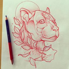 Maybe a panther for my leg cover up - big and black