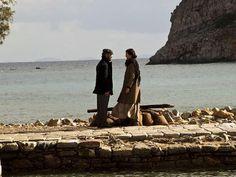 Actors Stelios Maimas & Katerina Lechou on a Spinalonga Shot of Mirella Papadopoulo's TV Series Based on Victoria Hilsop's The Island  Novel ( To Nisi)