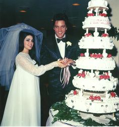 Priscilla and Elvis Presley's wedding