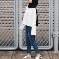 New style hijab simple outfits ideas Hijab Casual, Hijab Chic, Modest Outfits, Simple Outfits, Casual Outfits, Fashion Outfits, Simple Ootd, Classy Outfits, Dress Fashion