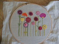 Pretty embroidery can be turned into a sampler