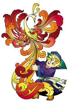 Жар-птица (Рисунки и иллюстрации) - фри-лансер Анна Ландер [Landra].