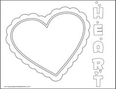 Free Kids Valentines Day Heart Coloring Page