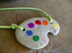 painters palette necklace from madeforfun on etsy $14