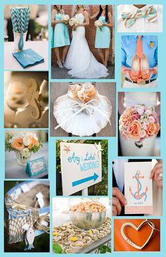 Nautical Wedding Theme: Coral and Aqua  www.stylemepretty.com: PERFECTTTT