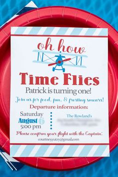 From invitations to decorations to food, this has everything you need for an adorable airplane themed birthday party!