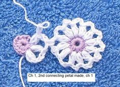Instructions on how to make these beautiful tiny flowers and how to connect them together (useful to know if you want to make, for example, a pretty scarf out of them).