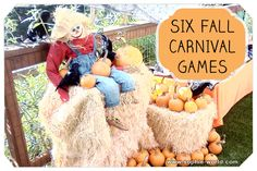 Six Fall Carnival Games | Sophie's World This one has a good game with a pool noodle.