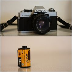 Minolta Camera 35 mm SLR. Do you remember when you had to load film into the camera?