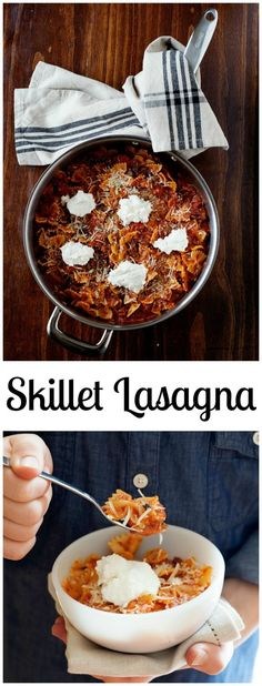 This skillet lasagna recipe is a quick weeknight meal with all the classic flavors at a fraction of the time. 30 minute meal anyone?