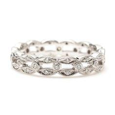 white gold art deco diamond eternity band
