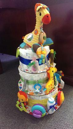 Diaper cake, gender neutral