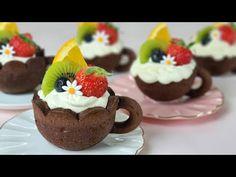 [Eng Sub] 과일 미니 타르트 만들기/쿠키컵 만들기/ How to make fruits mini tart / Chocolate Cookie cup recipe /초코 쿠키 - YouTube