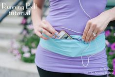 Aha! No more slipping arm band on the iPod! Running Belt Tutorial  via  Erin of the Sewing Rabbit Team